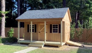 Colonial Barns | unique shed designs that include a porch! thumbnail